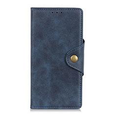 Handytasche Stand Schutzhülle Leder Hülle L01 für Alcatel 3L Blau