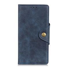 Handytasche Stand Schutzhülle Leder Hülle L01 für Alcatel 3X Blau
