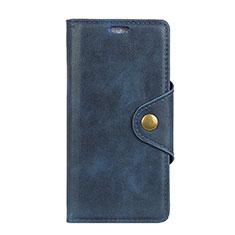 Handytasche Stand Schutzhülle Leder Hülle L01 für Alcatel 5V Blau