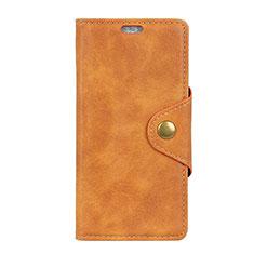 Handytasche Stand Schutzhülle Leder Hülle L01 für Alcatel 5V Orange