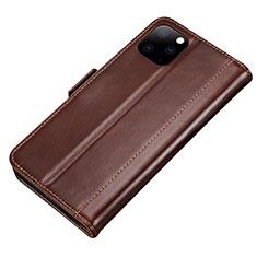 Handytasche Stand Schutzhülle Leder Hülle L01 für Apple iPhone 11 Pro Braun