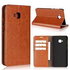 Handytasche Stand Schutzhülle Leder Hülle L01 für Asus Zenfone 4 Selfie Pro Orange