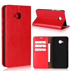 Handytasche Stand Schutzhülle Leder Hülle L01 für Asus Zenfone 4 Selfie Pro Rot