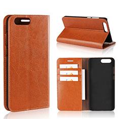 Handytasche Stand Schutzhülle Leder Hülle L01 für Asus Zenfone 4 ZE554KL Orange