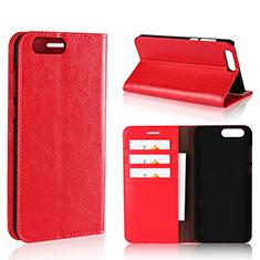 Handytasche Stand Schutzhülle Leder Hülle L01 für Asus Zenfone 4 ZE554KL Rot