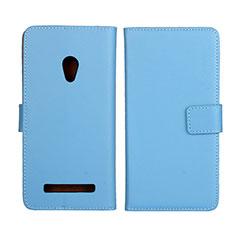 Handytasche Stand Schutzhülle Leder Hülle L01 für Asus Zenfone 5 Hellblau