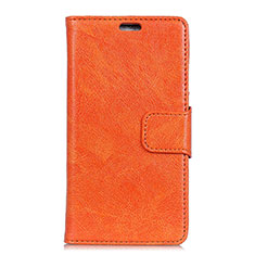 Handytasche Stand Schutzhülle Leder Hülle L01 für Asus Zenfone 5 Lite ZC600KL Orange