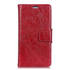 Handytasche Stand Schutzhülle Leder Hülle L01 für Asus Zenfone 5 Lite ZC600KL Rot
