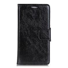 Handytasche Stand Schutzhülle Leder Hülle L01 für Asus Zenfone 5 Lite ZC600KL Schwarz