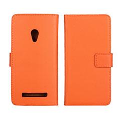 Handytasche Stand Schutzhülle Leder Hülle L01 für Asus Zenfone 5 Orange