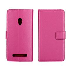 Handytasche Stand Schutzhülle Leder Hülle L01 für Asus Zenfone 5 Pink