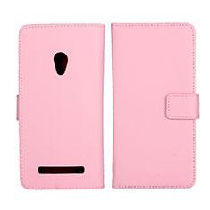 Handytasche Stand Schutzhülle Leder Hülle L01 für Asus Zenfone 5 Rosa
