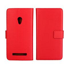 Handytasche Stand Schutzhülle Leder Hülle L01 für Asus Zenfone 5 Rot