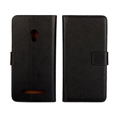 Handytasche Stand Schutzhülle Leder Hülle L01 für Asus Zenfone 5 Schwarz