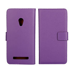 Handytasche Stand Schutzhülle Leder Hülle L01 für Asus Zenfone 5 Violett