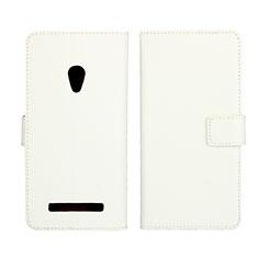 Handytasche Stand Schutzhülle Leder Hülle L01 für Asus Zenfone 5 Weiß