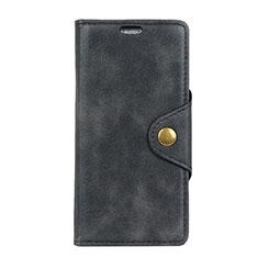 Handytasche Stand Schutzhülle Leder Hülle L01 für Asus Zenfone 5 ZS620KL Schwarz