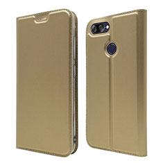 Handytasche Stand Schutzhülle Leder Hülle L01 für Asus Zenfone Max Plus M1 ZB570TL Gold