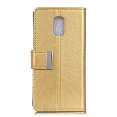 Handytasche Stand Schutzhülle Leder Hülle L01 für Asus ZenFone V500KL Gold