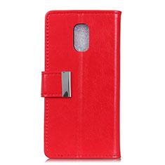 Handytasche Stand Schutzhülle Leder Hülle L01 für Asus ZenFone V500KL Rot