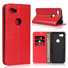 Handytasche Stand Schutzhülle Leder Hülle L01 für Google Pixel 3a XL Rot