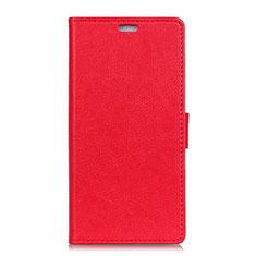 Handytasche Stand Schutzhülle Leder Hülle L01 für HTC U11 Eyes Rot