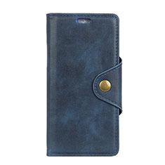 Handytasche Stand Schutzhülle Leder Hülle L01 für HTC U12 Plus Blau