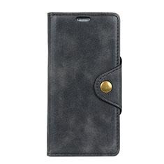Handytasche Stand Schutzhülle Leder Hülle L01 für HTC U12 Plus Schwarz