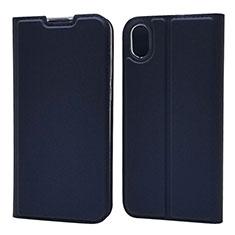 Handytasche Stand Schutzhülle Leder Hülle L01 für Huawei Enjoy 8S Blau