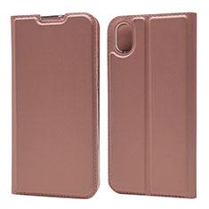 Handytasche Stand Schutzhülle Leder Hülle L01 für Huawei Enjoy 8S Rosegold