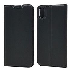 Handytasche Stand Schutzhülle Leder Hülle L01 für Huawei Enjoy 8S Schwarz