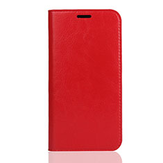 Handytasche Stand Schutzhülle Leder Hülle L01 für Huawei Honor Play 8 Rot