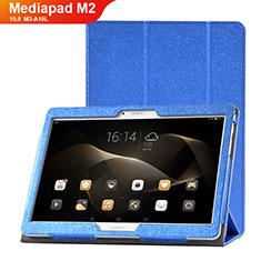 Handytasche Stand Schutzhülle Leder Hülle L01 für Huawei MediaPad M2 10.0 M2-A10L Blau