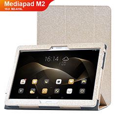 Handytasche Stand Schutzhülle Leder Hülle L01 für Huawei MediaPad M2 10.0 M2-A10L Gold