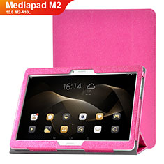 Handytasche Stand Schutzhülle Leder Hülle L01 für Huawei MediaPad M2 10.0 M2-A10L Pink