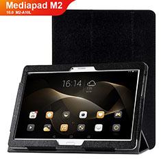 Handytasche Stand Schutzhülle Leder Hülle L01 für Huawei MediaPad M2 10.0 M2-A10L Schwarz
