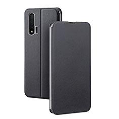 Handytasche Stand Schutzhülle Leder Hülle L01 für Huawei Nova 6 5G Schwarz