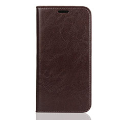 Handytasche Stand Schutzhülle Leder Hülle L01 für Huawei Y5 (2019) Braun