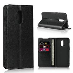 Handytasche Stand Schutzhülle Leder Hülle L01 für OnePlus 7 Schwarz