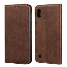 Handytasche Stand Schutzhülle Leder Hülle L01 für Samsung Galaxy A10 Braun