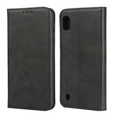 Handytasche Stand Schutzhülle Leder Hülle L01 für Samsung Galaxy A10 Schwarz