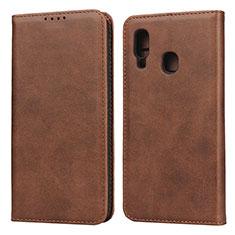 Handytasche Stand Schutzhülle Leder Hülle L01 für Samsung Galaxy A20e Braun