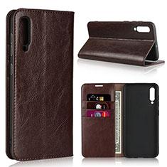 Handytasche Stand Schutzhülle Leder Hülle L01 für Samsung Galaxy A50 Braun