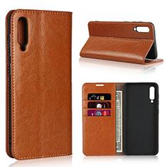 Handytasche Stand Schutzhülle Leder Hülle L01 für Samsung Galaxy A50 Orange