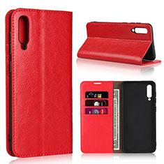 Handytasche Stand Schutzhülle Leder Hülle L01 für Samsung Galaxy A50 Rot