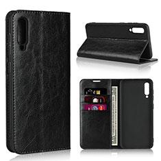 Handytasche Stand Schutzhülle Leder Hülle L01 für Samsung Galaxy A50 Schwarz