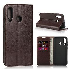 Handytasche Stand Schutzhülle Leder Hülle L01 für Samsung Galaxy A60 Braun