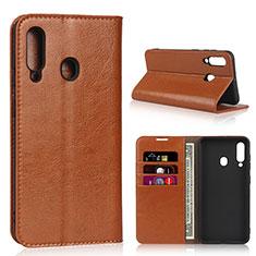 Handytasche Stand Schutzhülle Leder Hülle L01 für Samsung Galaxy A60 Orange