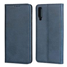 Handytasche Stand Schutzhülle Leder Hülle L01 für Samsung Galaxy A70 Blau