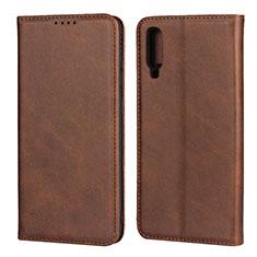 Handytasche Stand Schutzhülle Leder Hülle L01 für Samsung Galaxy A70 Braun